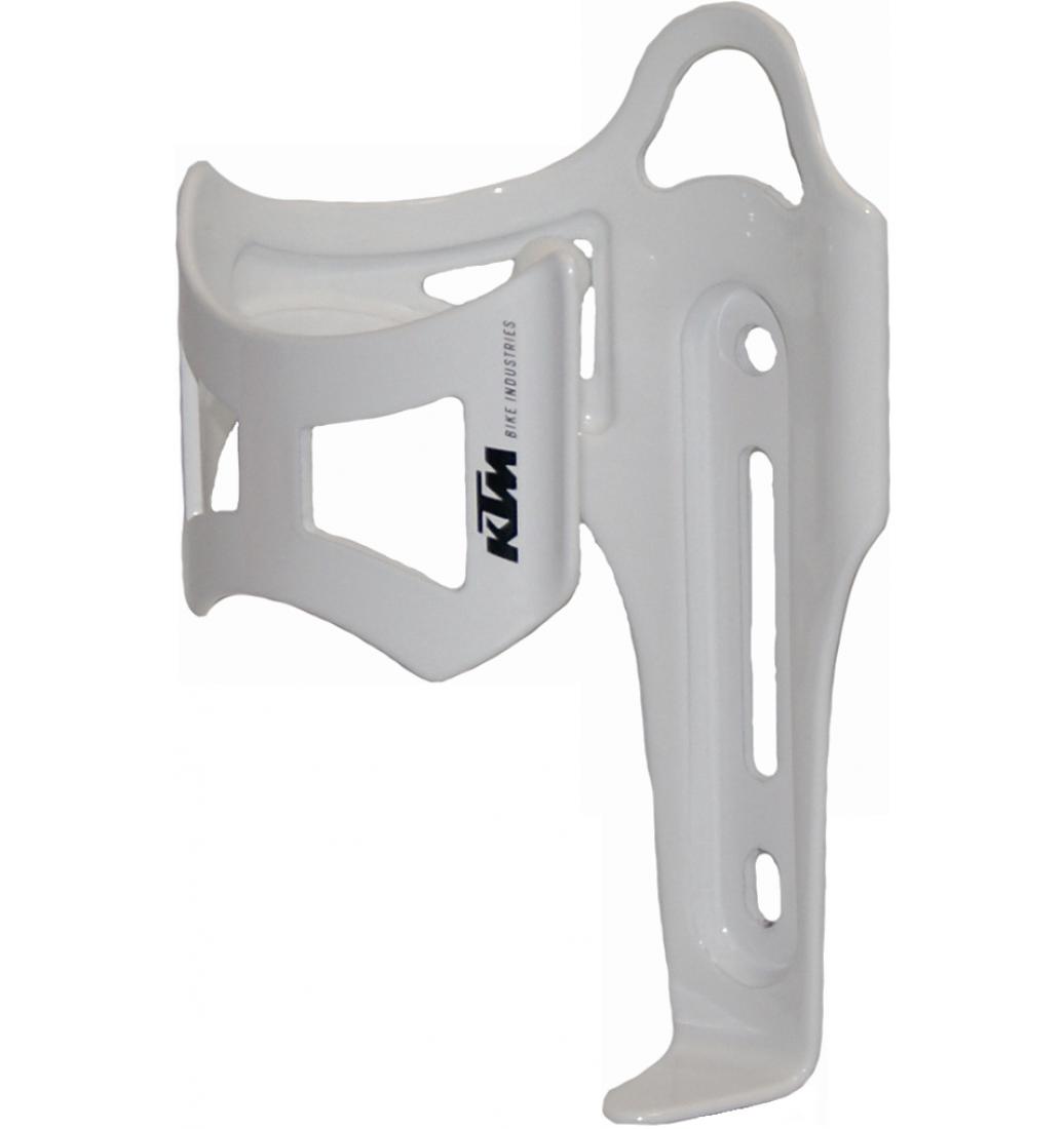 KTM košík na lahev boční bílý
